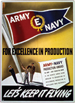 Army-Navy E poster