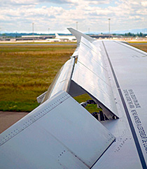Kaydon Bearings - markets - commercial aerospace - airplane wing flaps