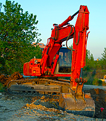 Kaydon Bearings - markets - heavy equipment - excavator