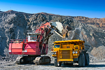 Kaydon Bearings - markets - mining - excavator and truck