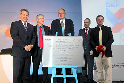 Inauguration of Kaydon Bearings manufacturing facility in Brazil