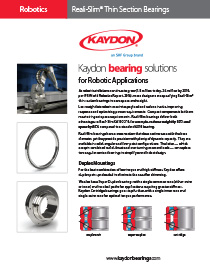 Kaydon Reali-Slim robotic application case study